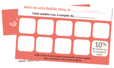 Carte de Fidélité Aline CADU, Al'Essentiel, Esthéticienne à Domicile (79).